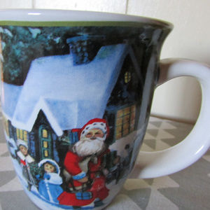 Christmas Santa with children coffee mug, cup